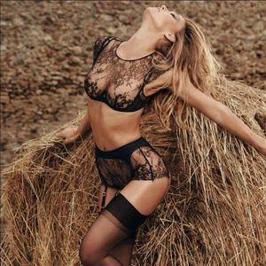 AGENT PROVOCATEUR • ismerelda lace black bralette